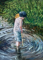 Happy Days by Keith Proctor - Original Painting on Stretched Canvas sized 16x22 inches. Available from Whitewall Galleries